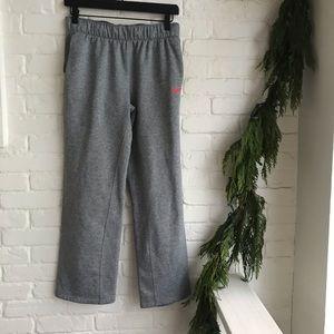 Nike Gray Just Do it Logo Pink Sweatpants Small